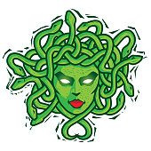 Medusa. Vector