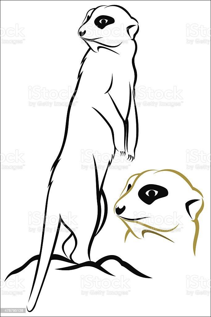 Meerkat royalty-free stock vector art