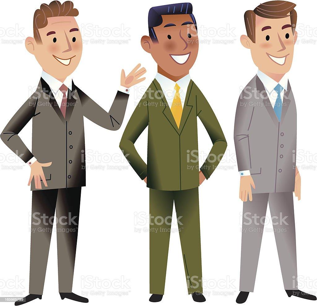Meet the team! vector art illustration
