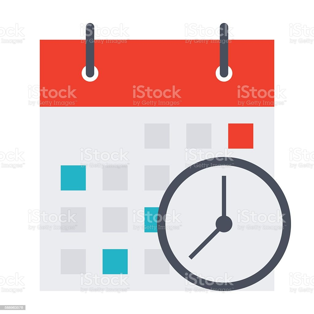 Meeting Deadlines Concept vector art illustration