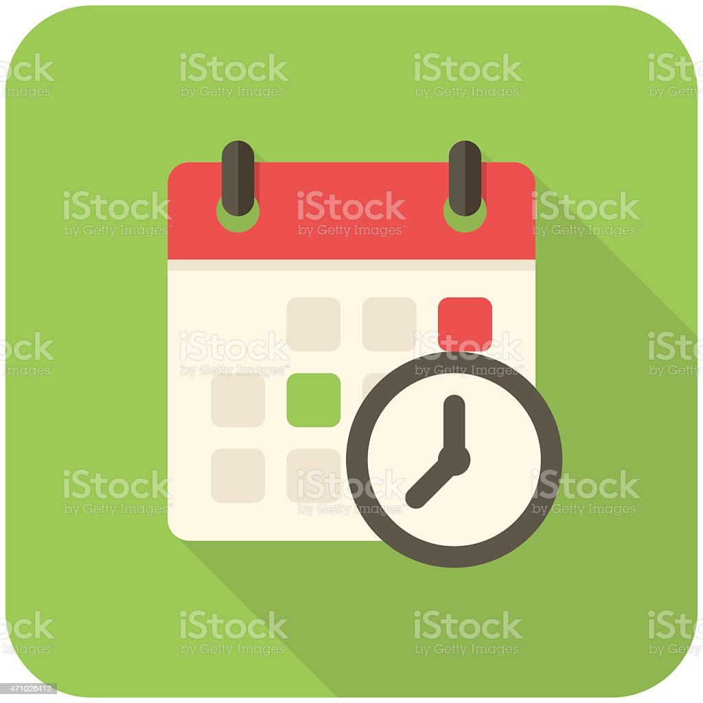 Meeting Deadlines icon vector art illustration
