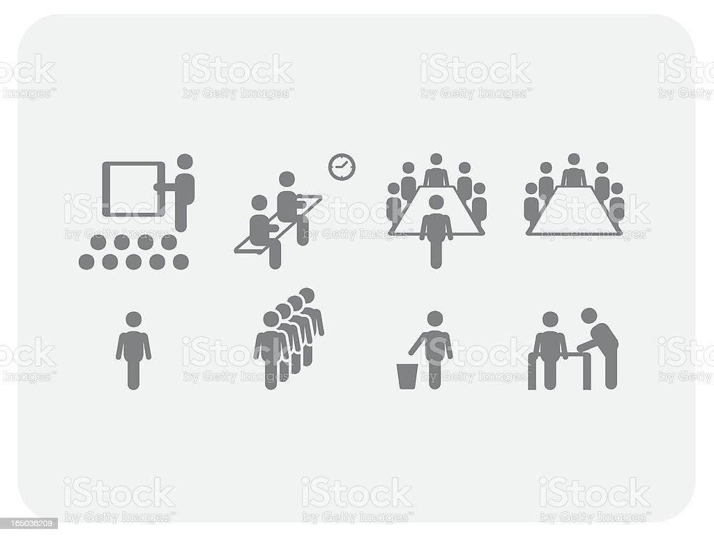 Meeting icons (Vector) vector art illustration