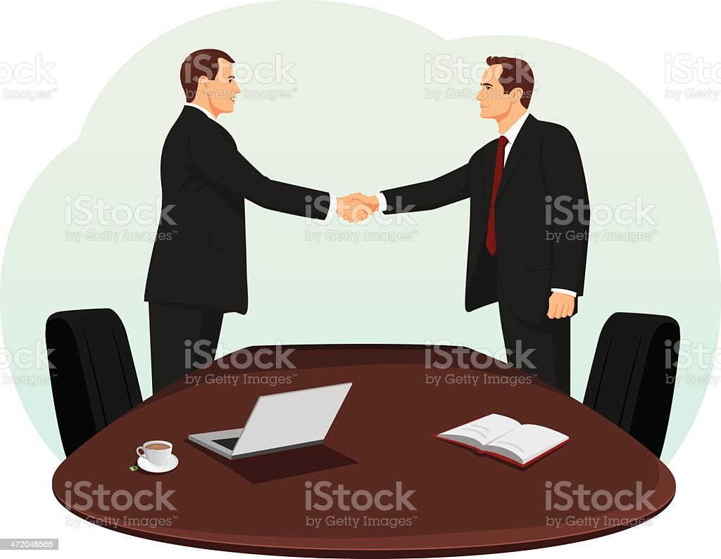 Meeting in the office vector art illustration