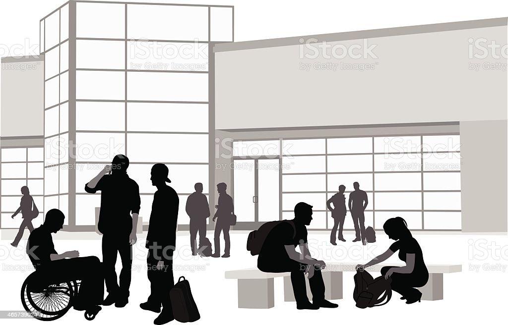 MeetingOtherStudents vector art illustration