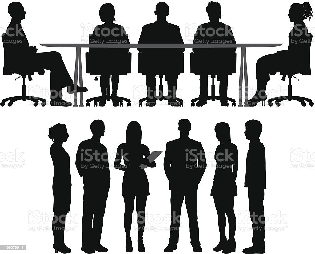 Meetings vector art illustration