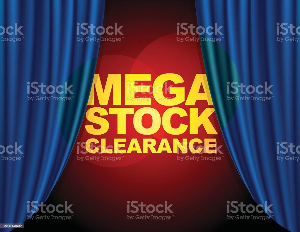 Mega Stock Clearance vector art illustration