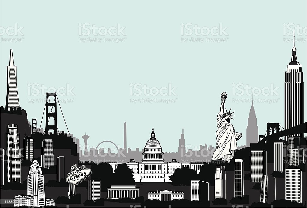 Mega Superscape of America royalty-free stock vector art