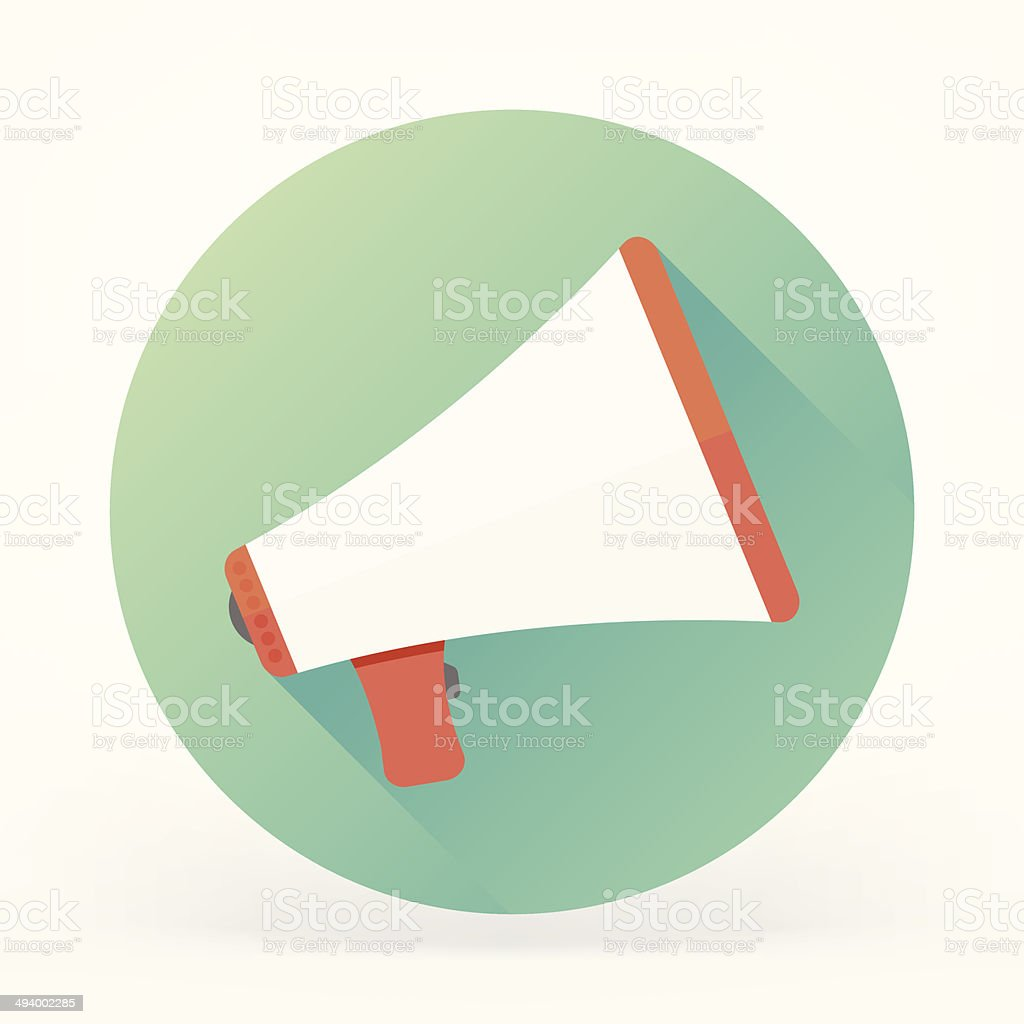 Megaphone Flat Icon vector art illustration