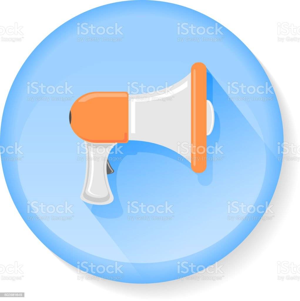 Megaphone icon royalty-free stock vector art