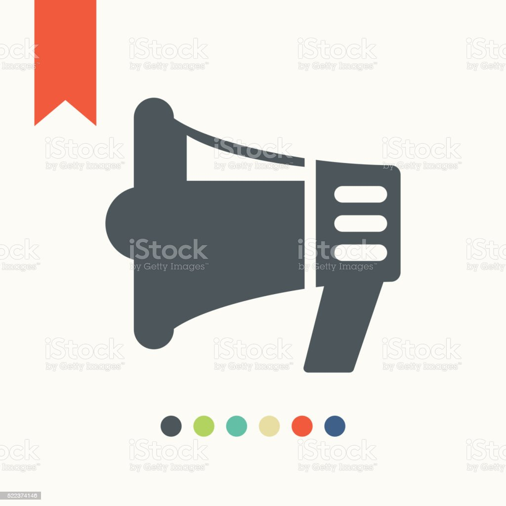 Megaphone icon vector art illustration