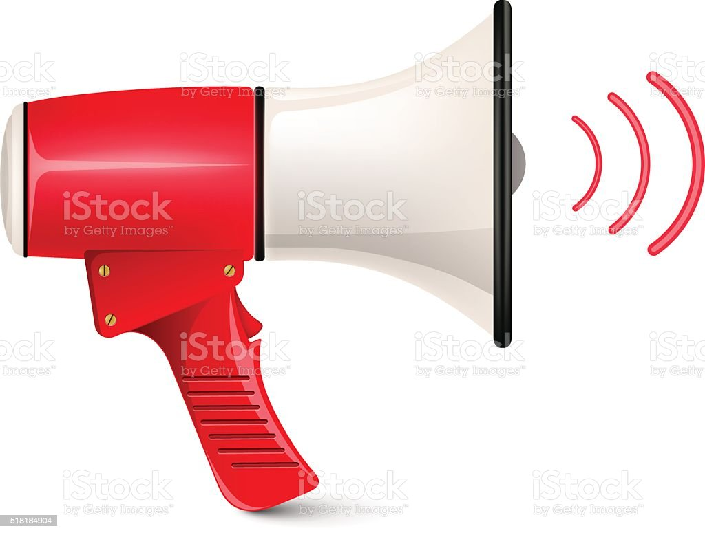 Megaphone Loud-speaker vector art illustration