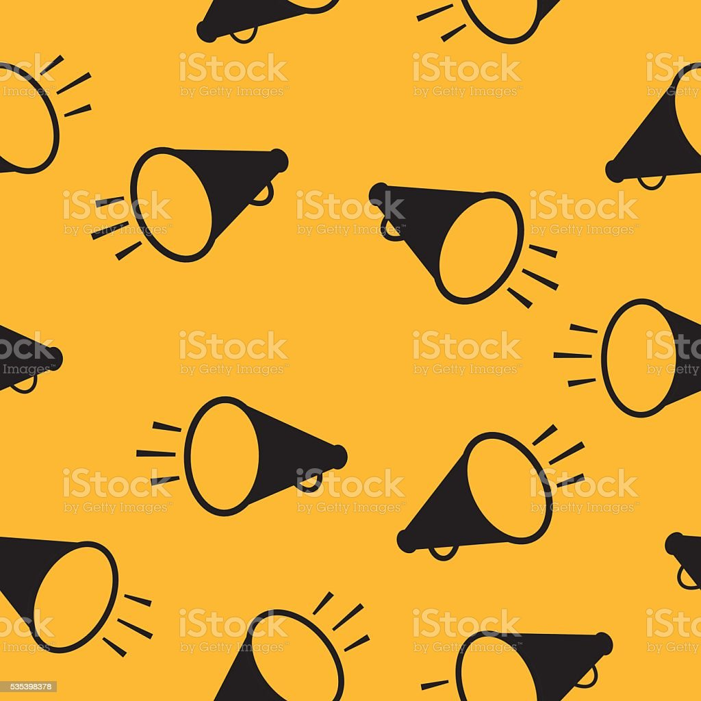 Megaphone Pattern vector art illustration