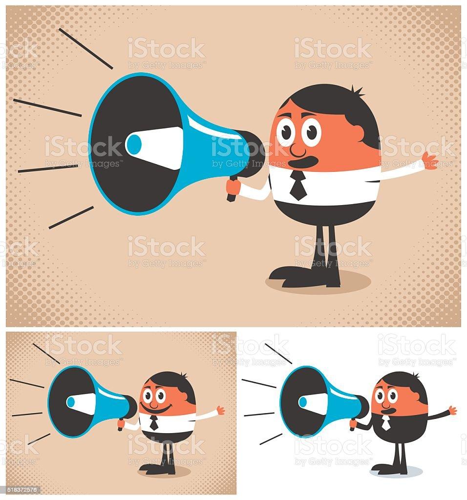 Megaphone Speaker vector art illustration