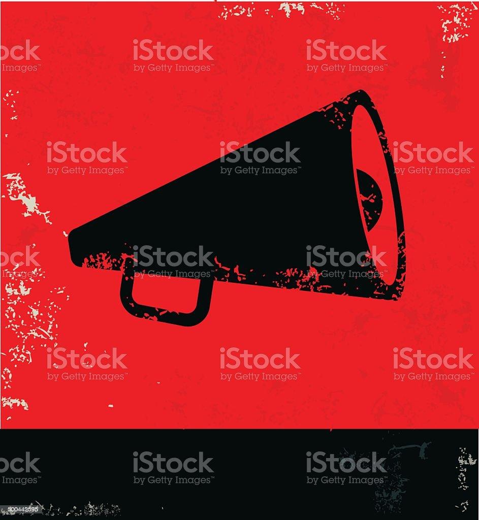 Megaphone symbol,vector vector art illustration