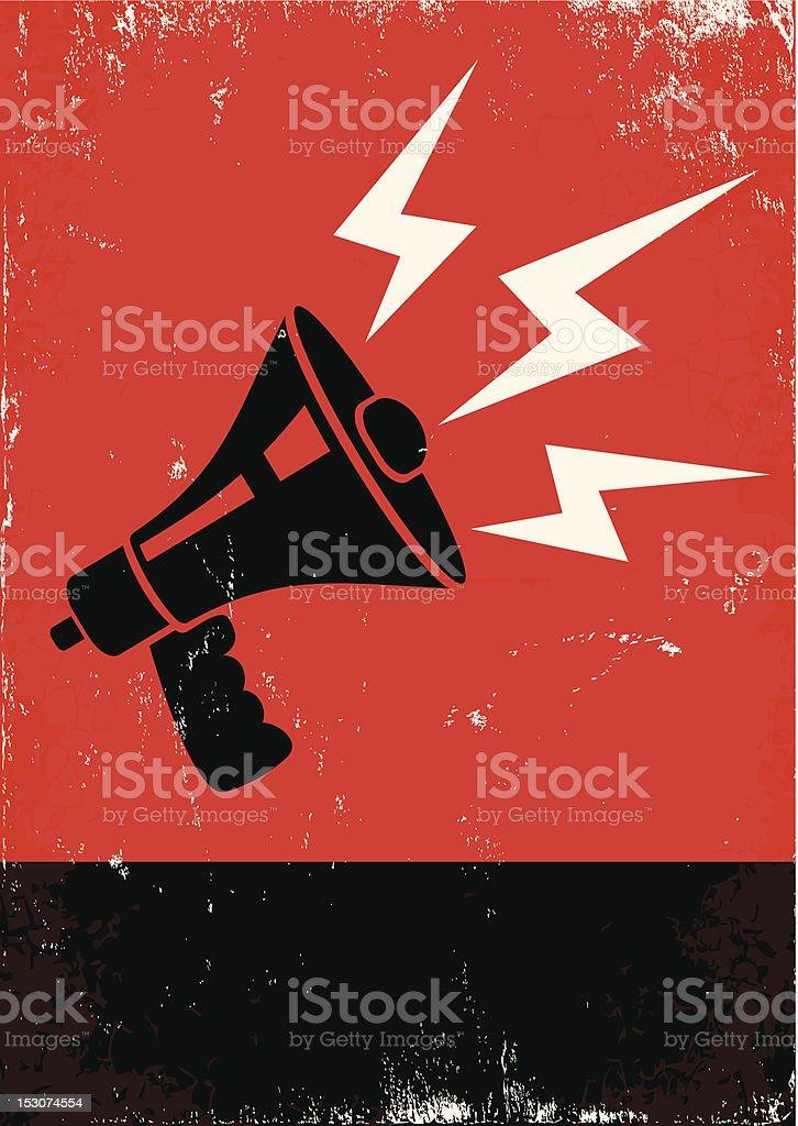 megaphone vector art illustration