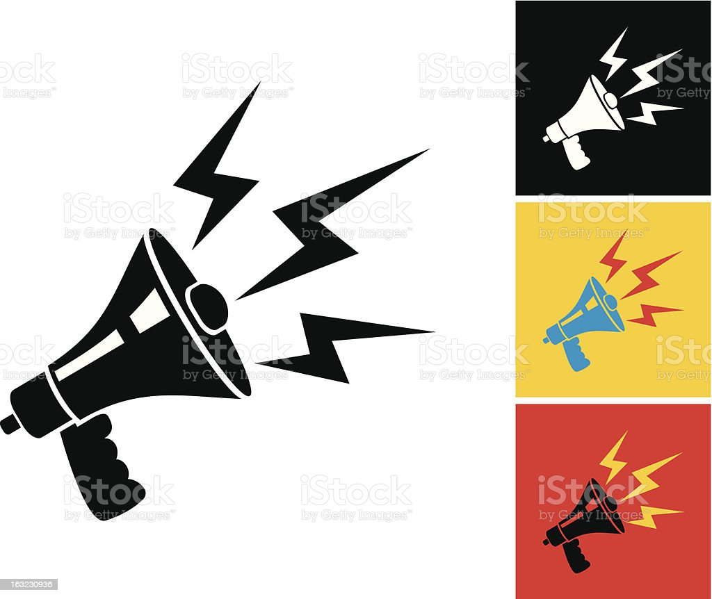 Megaphone vector art illustration