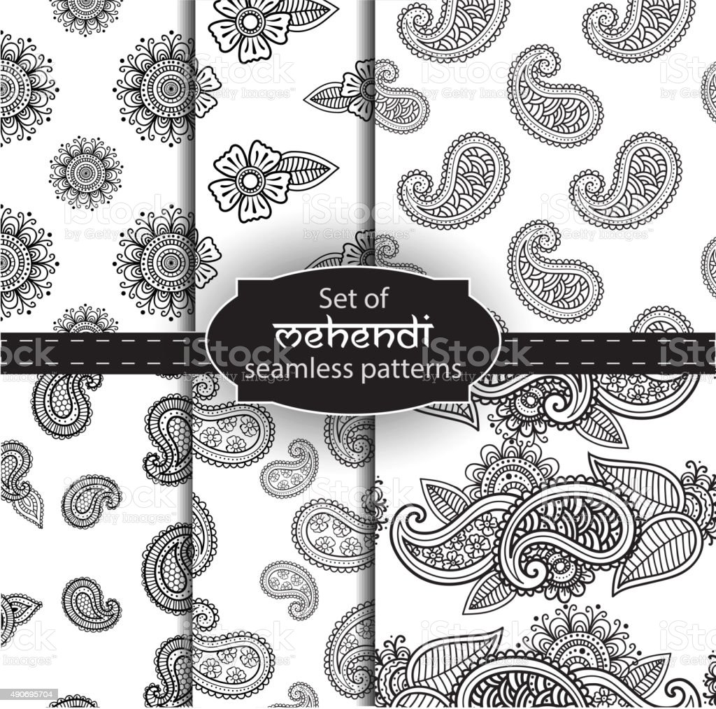 Mehendi abstract background vector art illustration