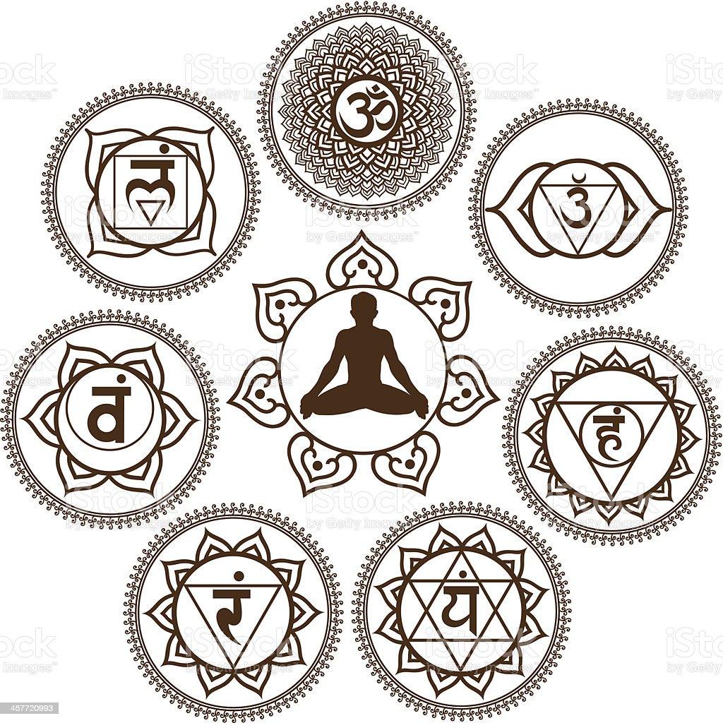 Mehendi Chakra royalty-free stock vector art