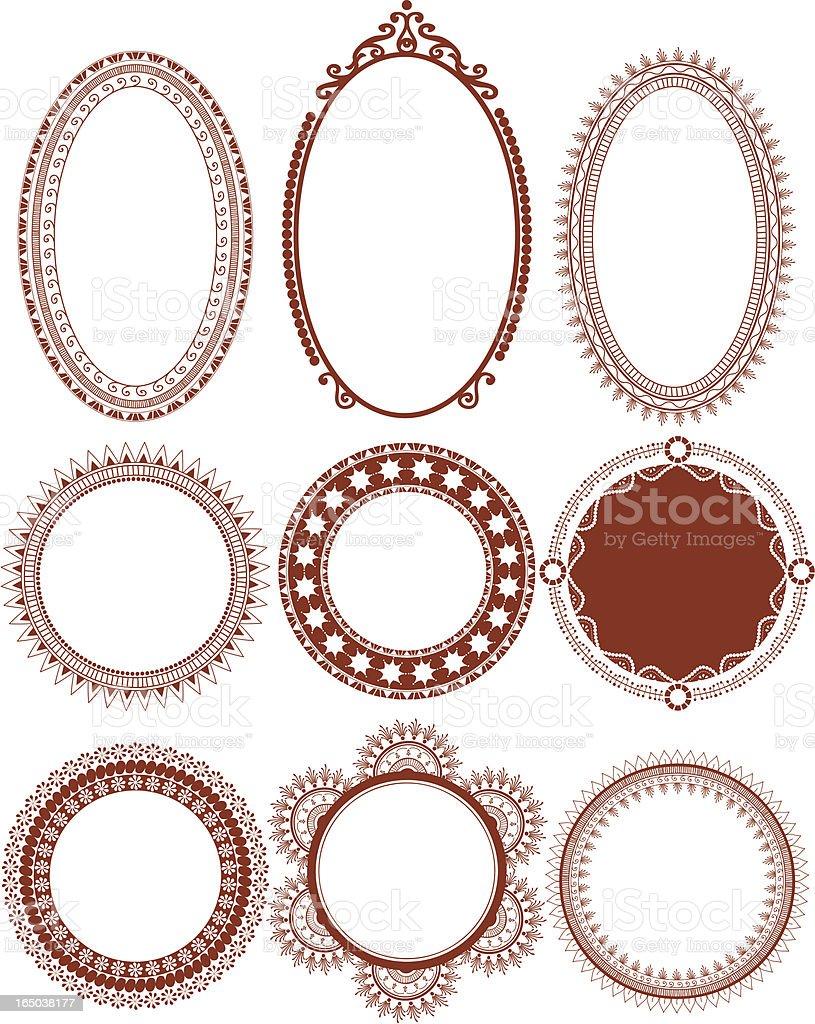 Mehndi Circles (Vector) royalty-free stock vector art