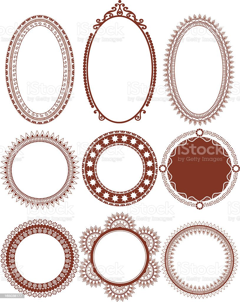 Mehndi Circles (Vector) vector art illustration