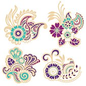 Mehndi design. Patterns.