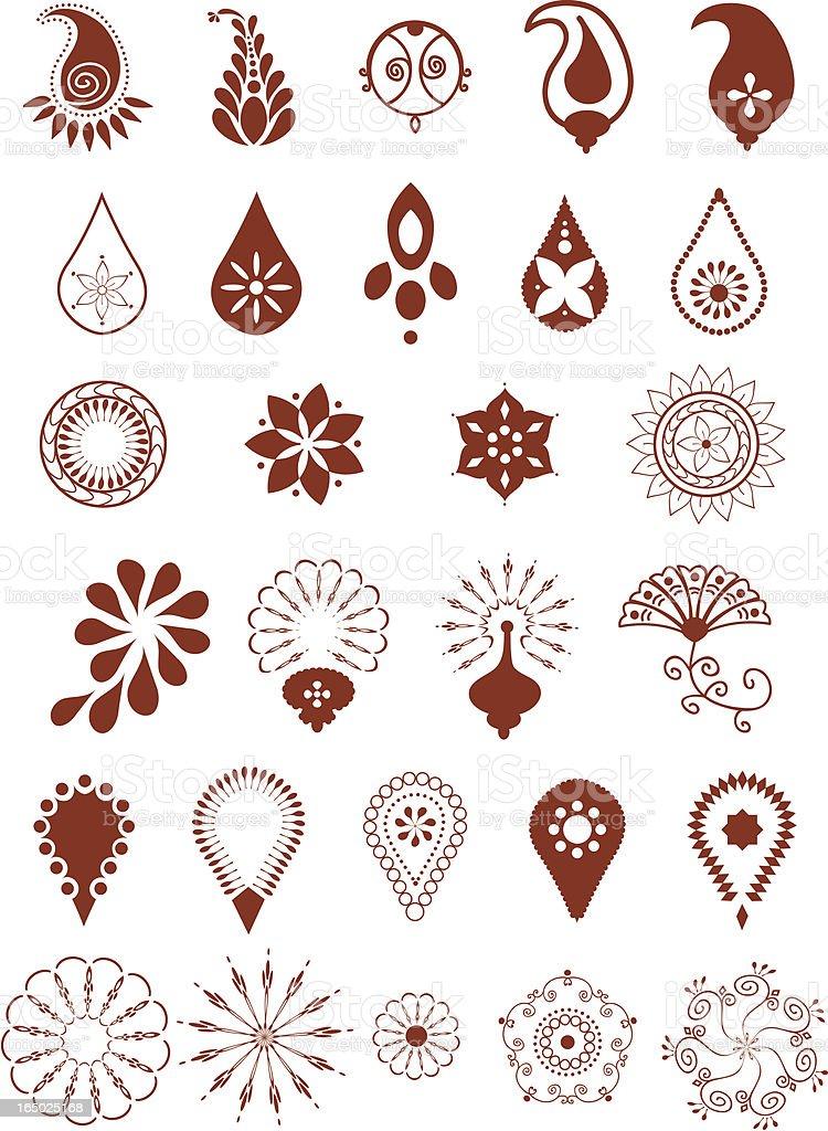 Mehndi Patterns Vector : Mehndi designs stock vector art istock