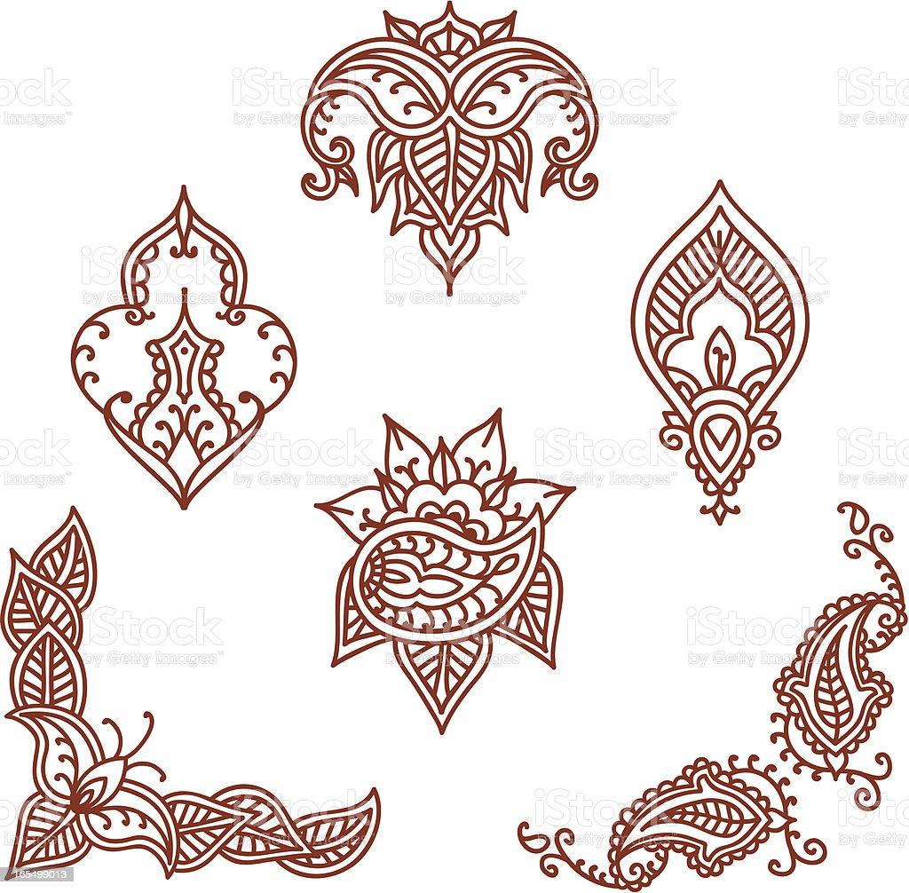 mehndi designs stock vector art 165499013 istock