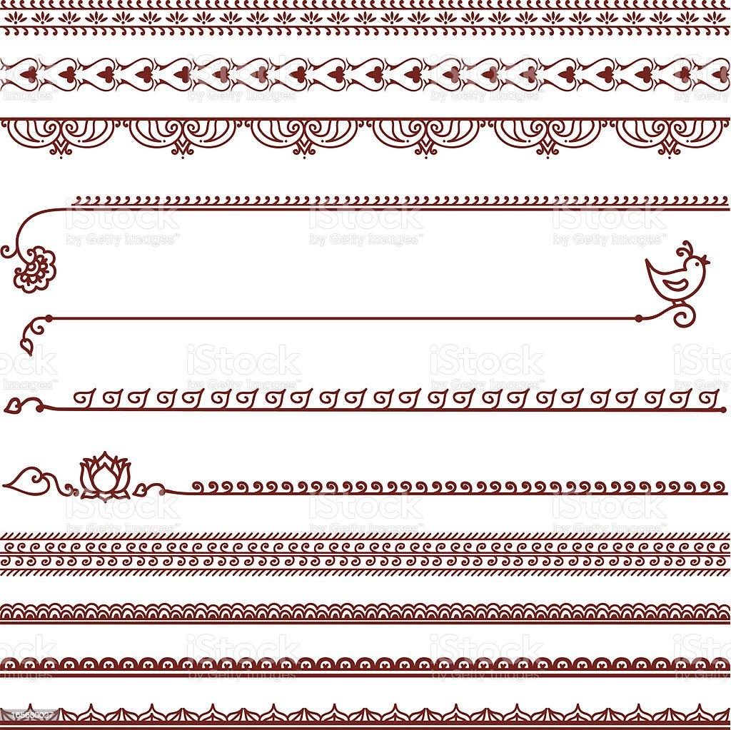 Mehndi Lines royalty-free stock vector art