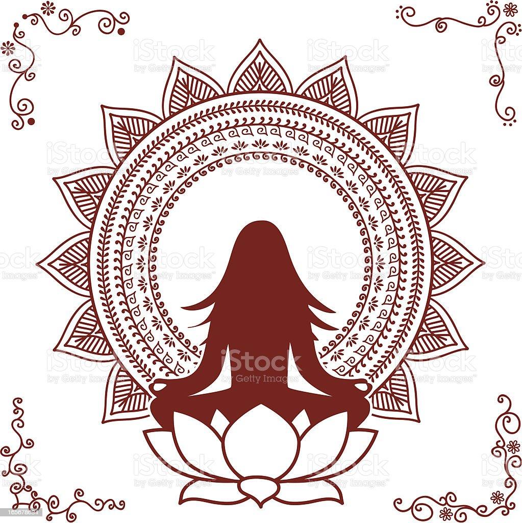 Mehndi Meditation royalty-free stock vector art