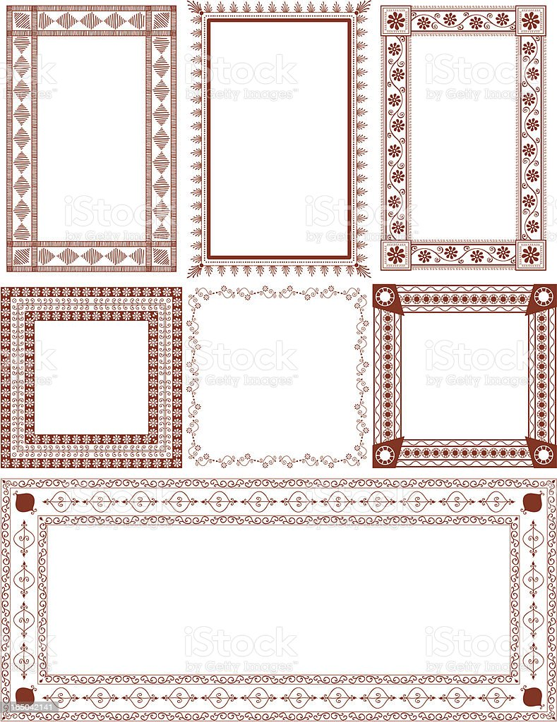Mehndi Squares (Vector) vector art illustration