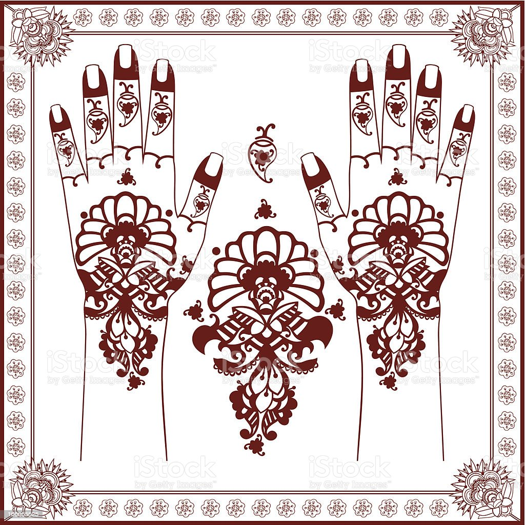 Mehndi. royalty-free stock vector art