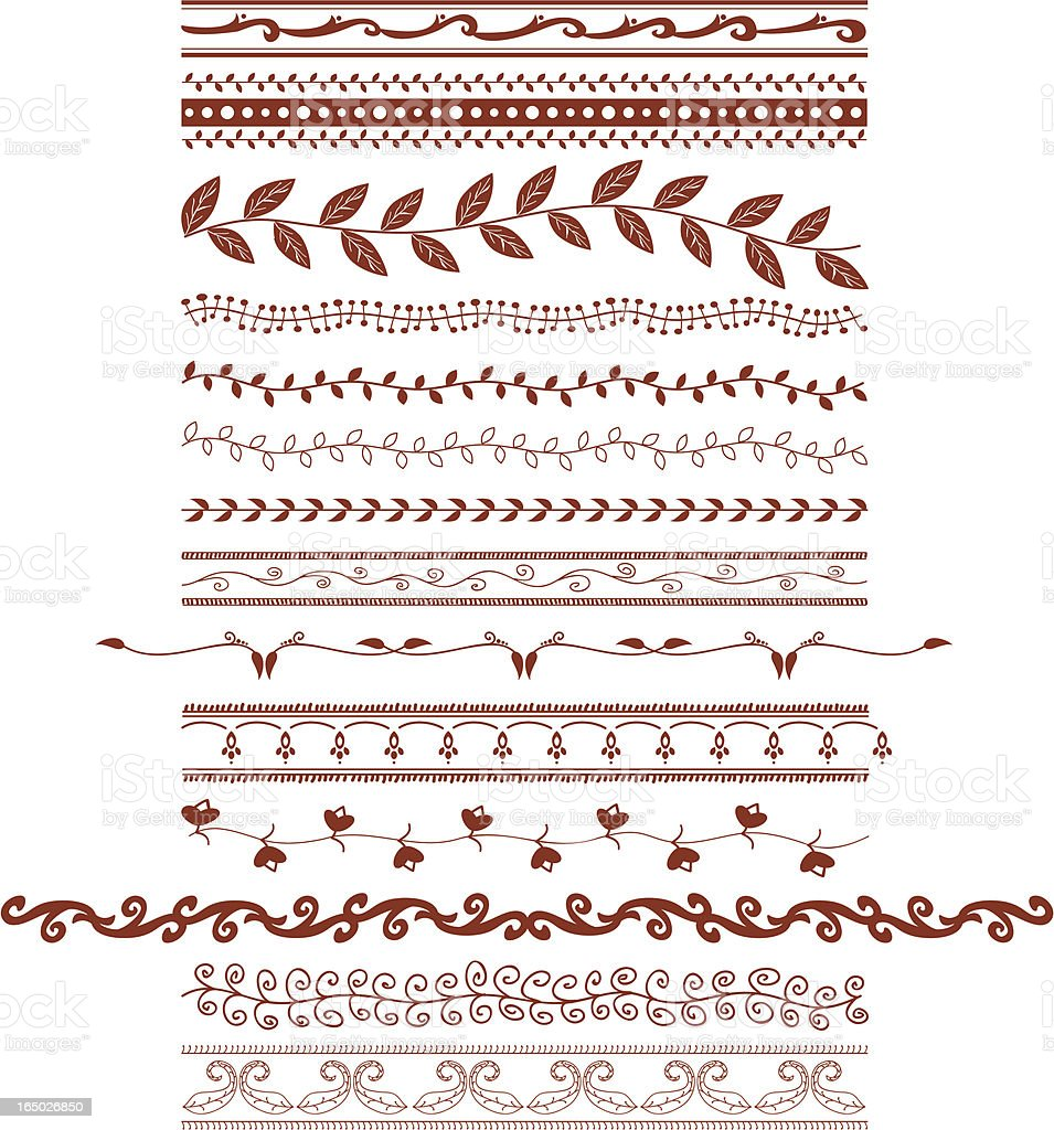 Mehndi Vines (Vector) royalty-free stock vector art