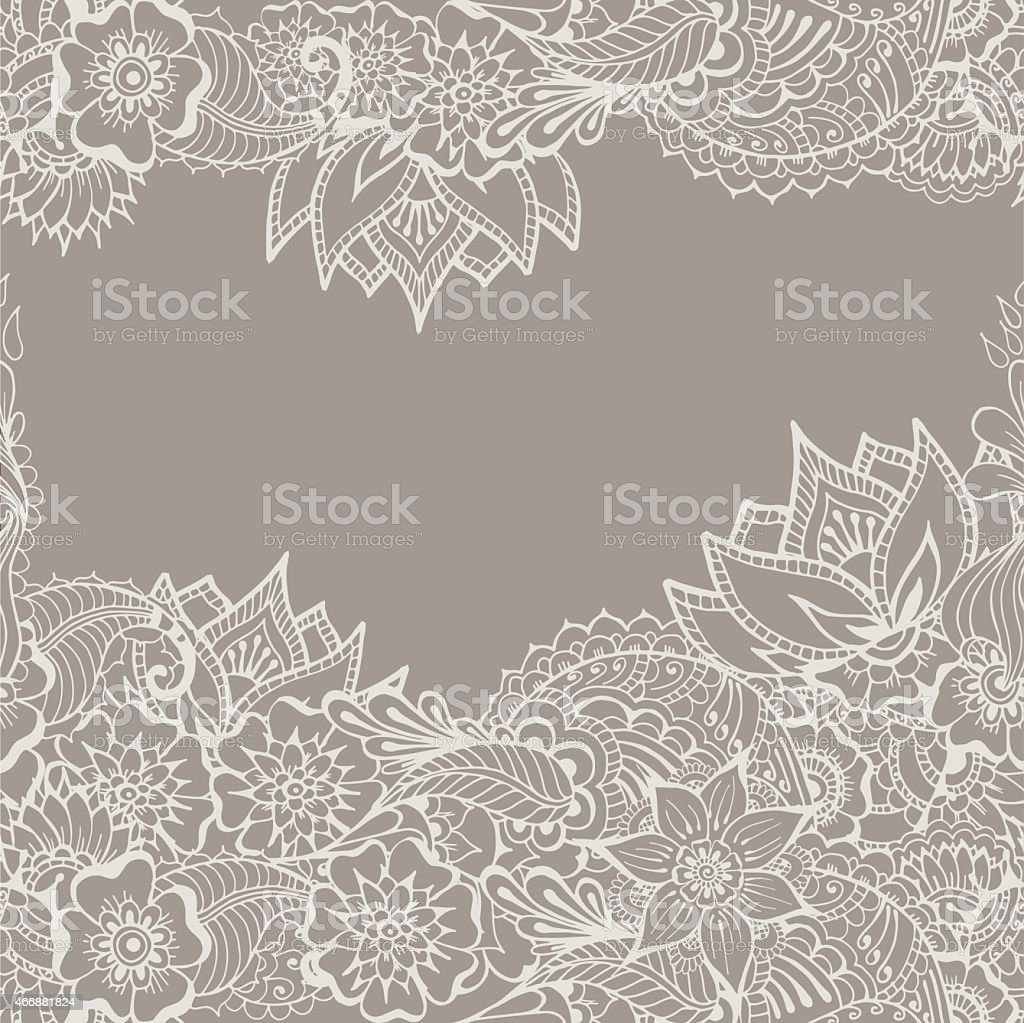 Mehndy flowers pattern vector art illustration