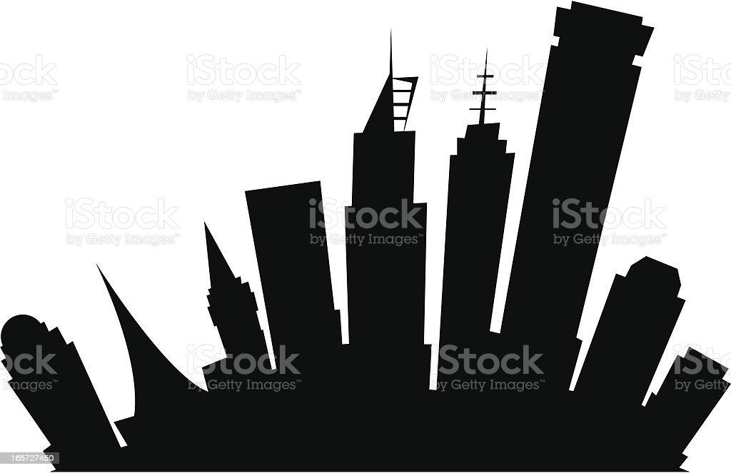 Melbourne Cartoon City royalty-free stock vector art