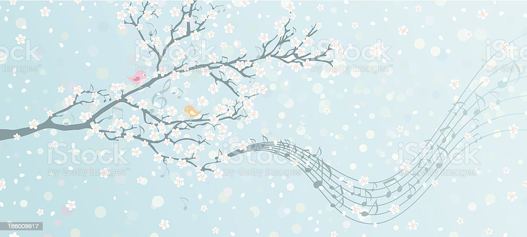 Melody of Spring vector art illustration