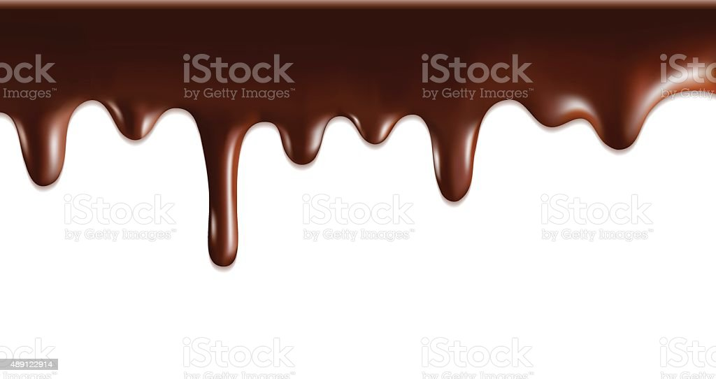 Melted chocolate vector art illustration