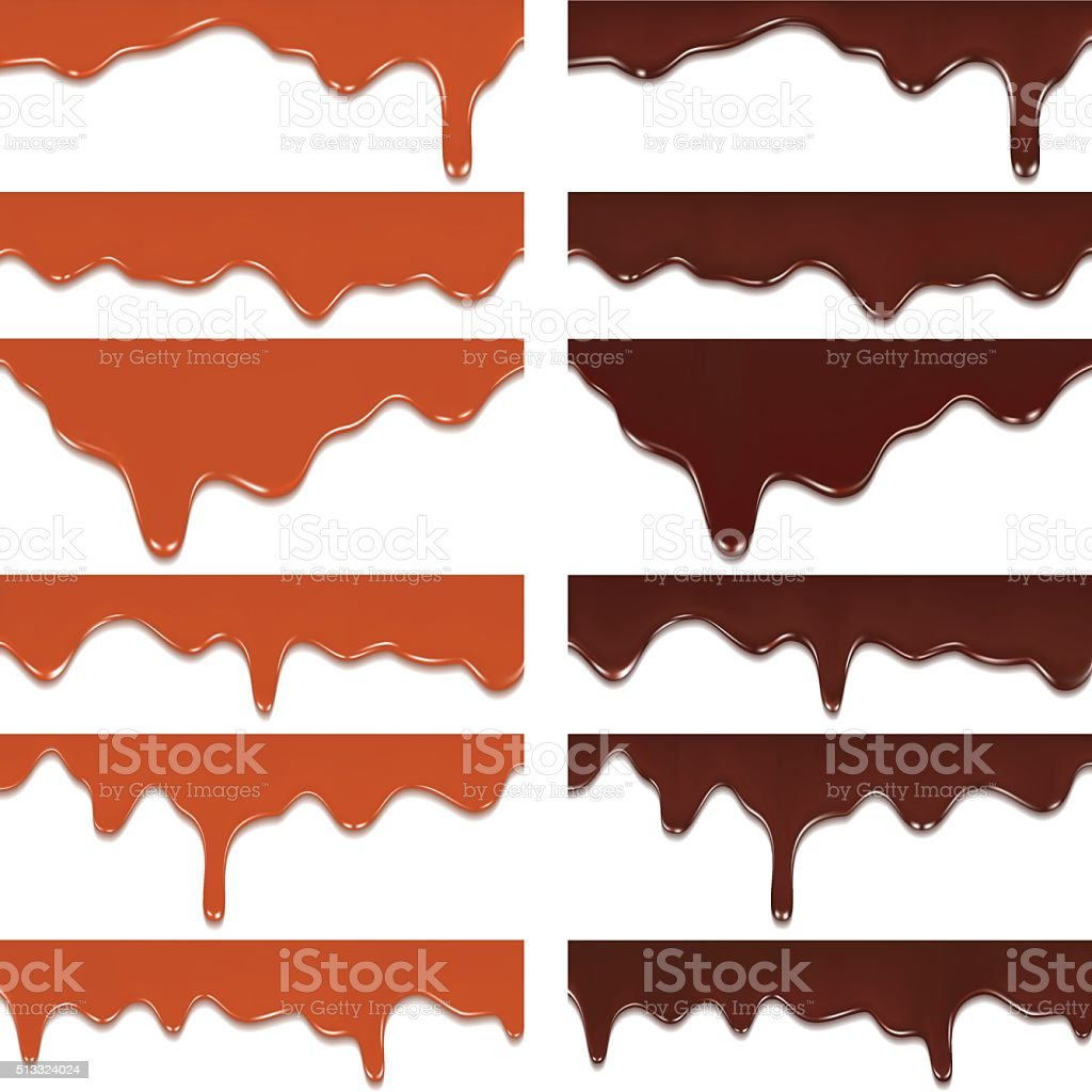 Melted chocolate, vector art illustration