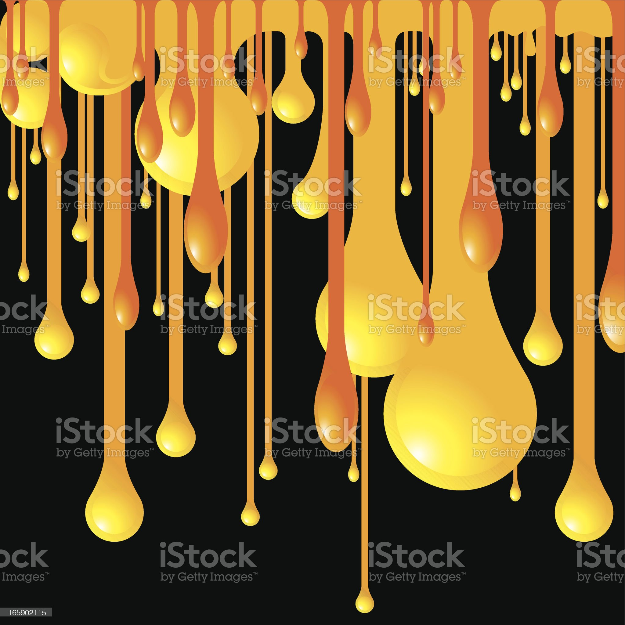 Melted Orange royalty-free stock vector art