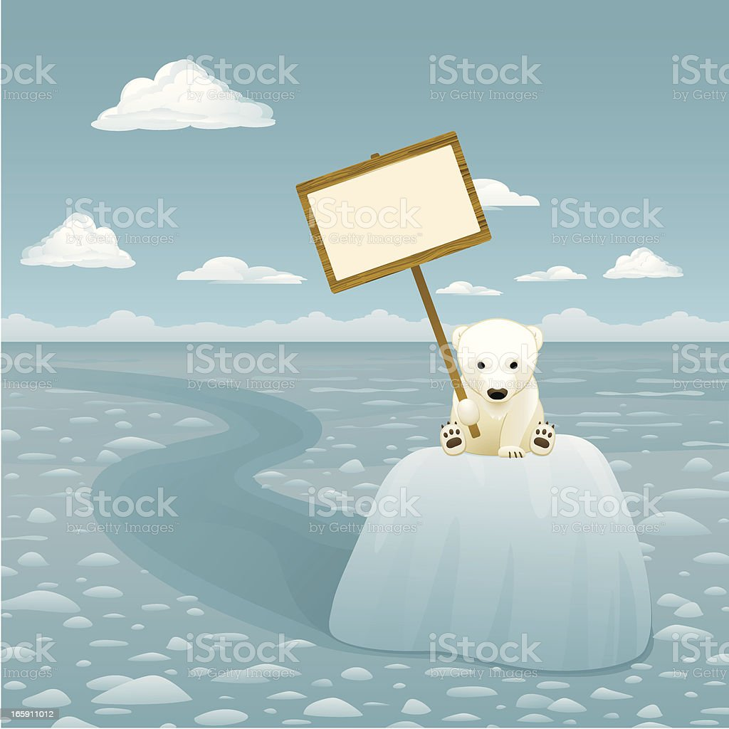 Melting Glacier vector art illustration