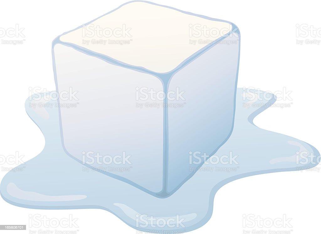 Melting Ice Cube royalty-free stock vector art