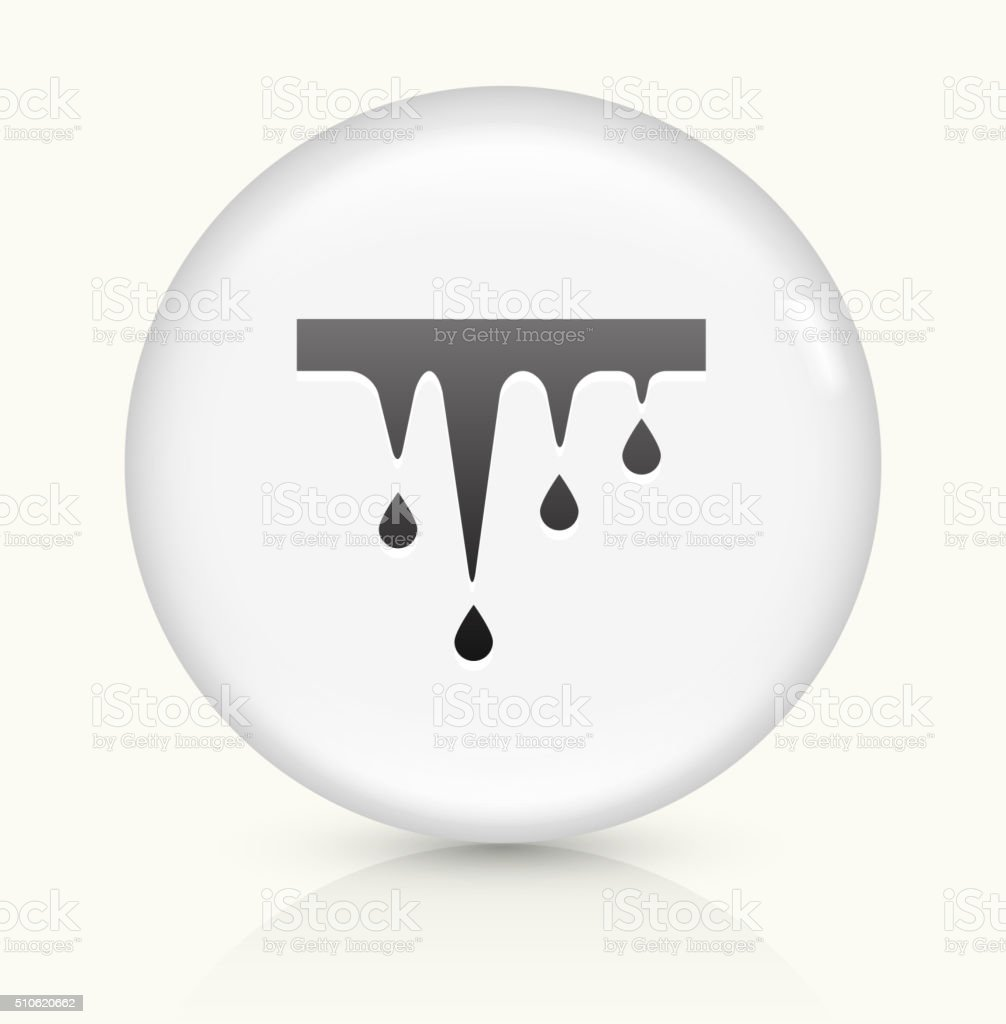 Melting Icicles icon on white round vector button vector art illustration
