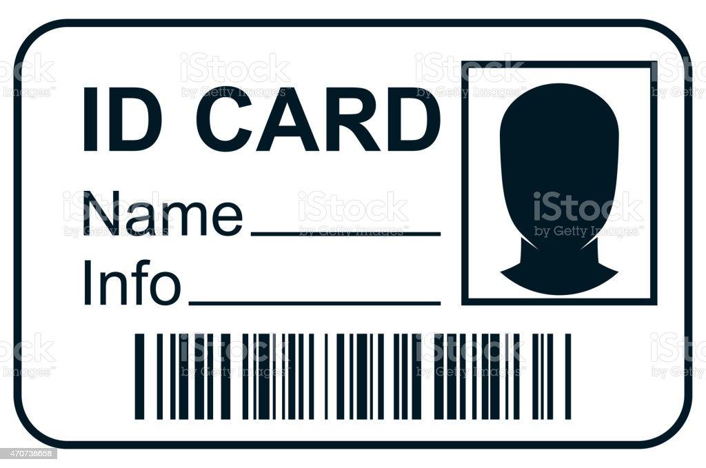 ID member card vector art illustration