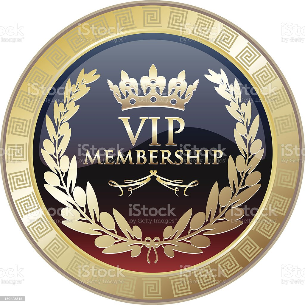 VIP Membership Gold Medal vector art illustration