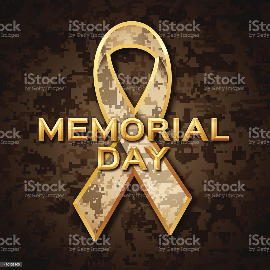 Memorial Day vector art illustration