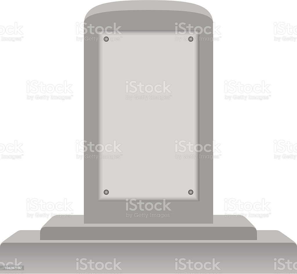 Memorial with Blank Plaque royalty-free stock vector art