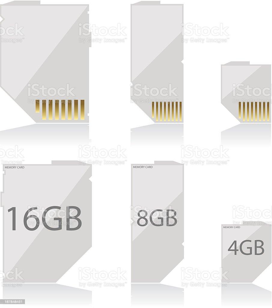 Memory card white royalty-free stock vector art