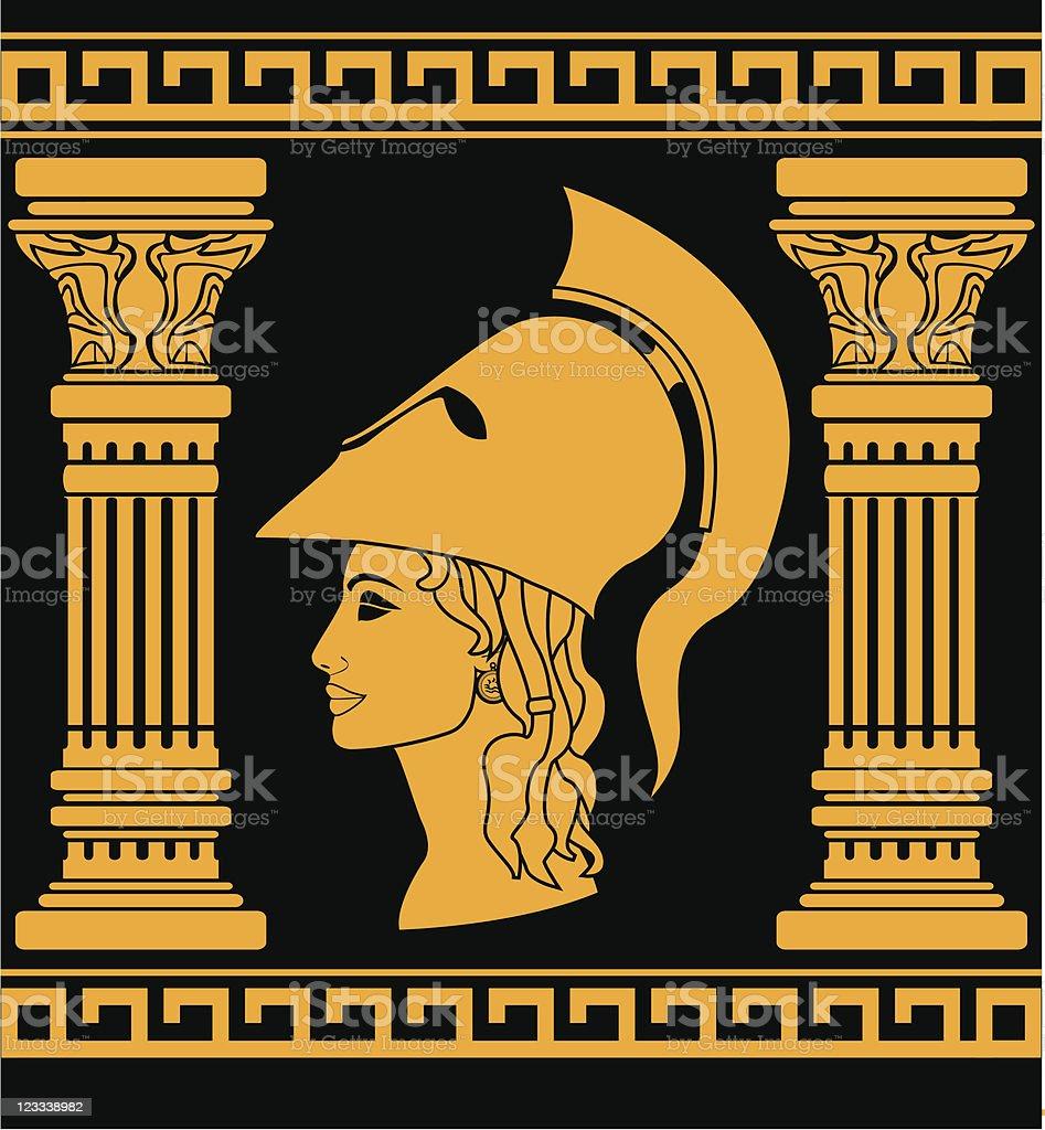 memory of Athena royalty-free stock vector art