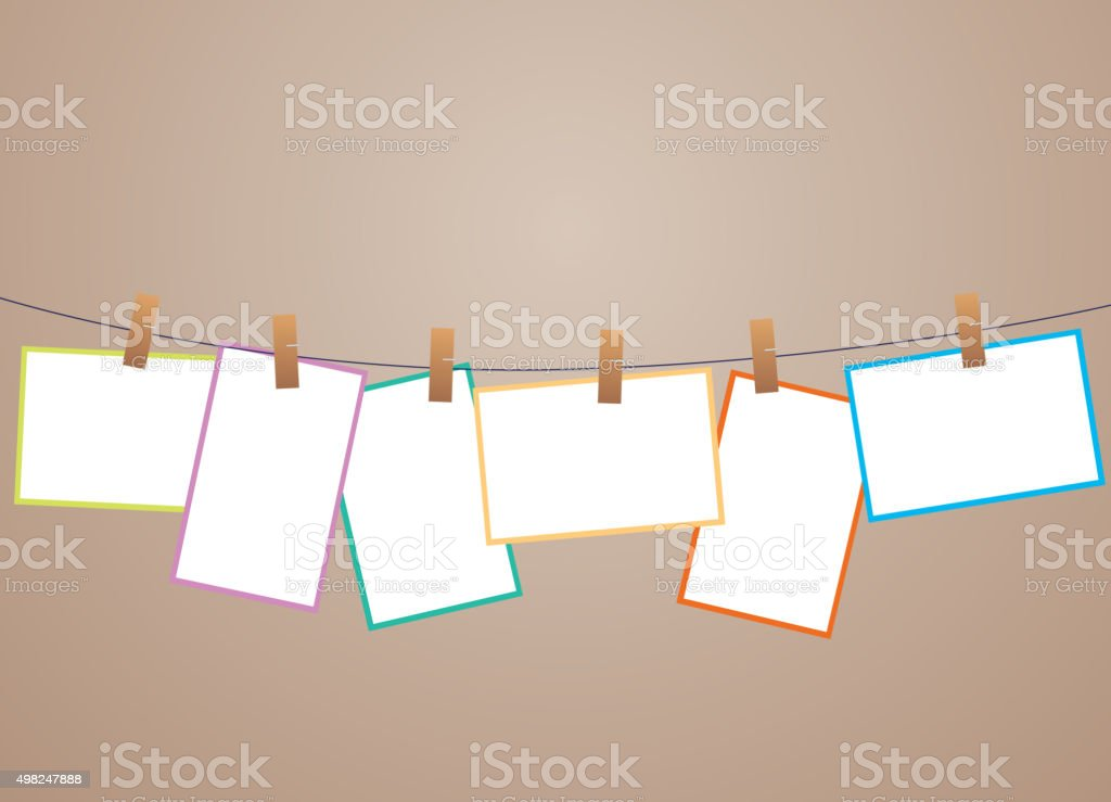 Memory pictures template vector art illustration