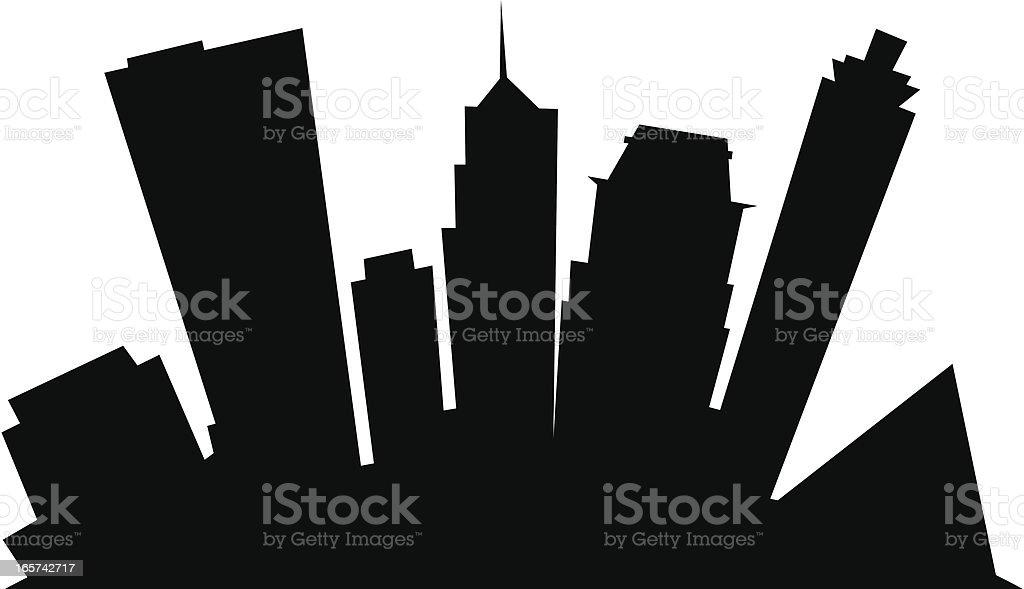 Memphis Cartoon City vector art illustration