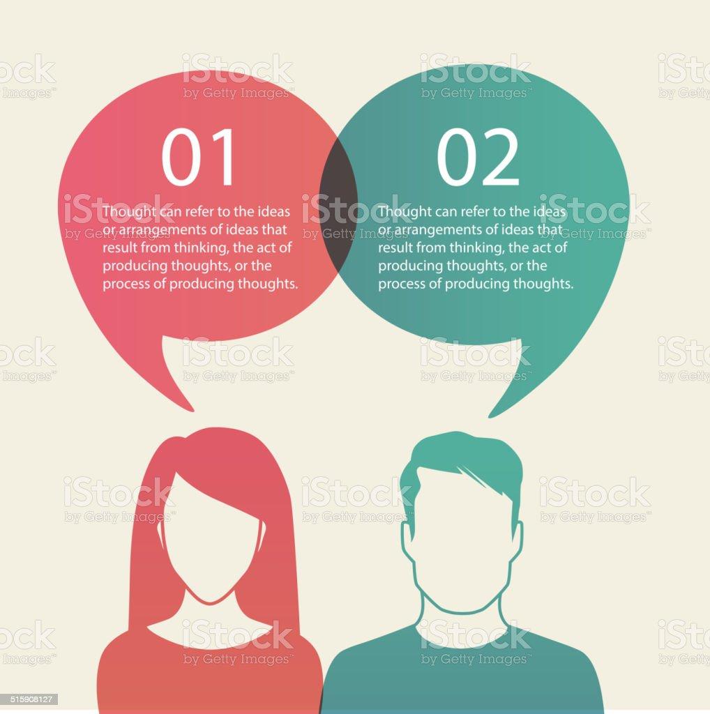 Men and women vector art illustration
